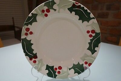 """NEW - Emma Bridgewater - Holly & Berry 8"""" Plate - 1st Quality"""
