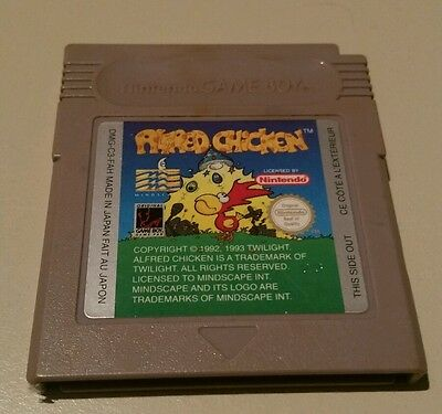 Nintendo Gameboy Kult Spiel Alfred Chicken Game Cartridge Spielkasstette