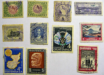 Guatemala Old / Early Selection of Stamps AEREO Airmail lot735