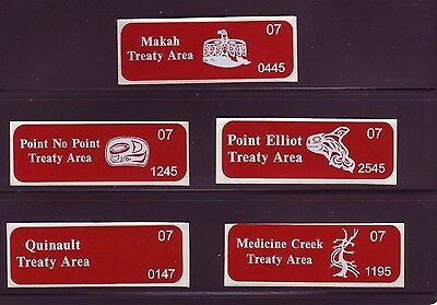 Northwest Indian Fisheries Commission Permit Stamps for 2007, Very Rare (19900)