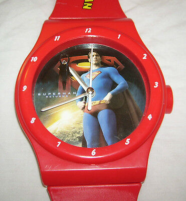 New Superman -  Watch Style Novelty Wall Clock For Kids Bedroom