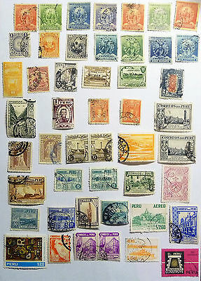 Peru Old Airmail Aereo Stamps Airplane lot743