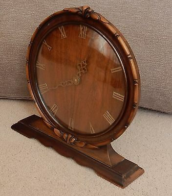 Smiths Carved Wood Mantel Clock