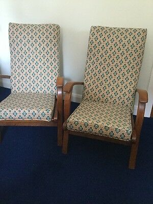 2 x  Mid Century Retro Cocktail Easy Chair Armchair  Vintage collect WV3