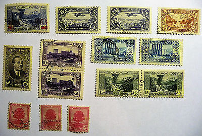 Liban Libanaise Old Early Stamps airmail lot746