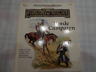 "Horde Campaiign ""AD&D 2nd Edition Forgotten Realms"" -english- (AD&D, D&D, MERP)"