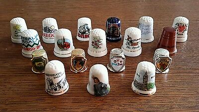 Vintage THIMBLE LOT, countries, states, towns, place's, lot of 18