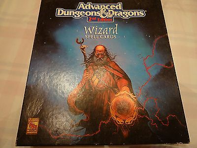 "Wizard Spell Cards ""AD&D 2nd Edition"" -english- (AD&D, D&D, MERP)"