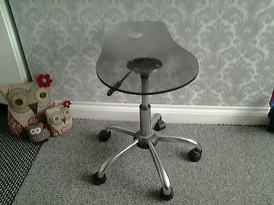 Retro 1980s? Acrylic and chrome stool + free mirror collect only birmingham b26