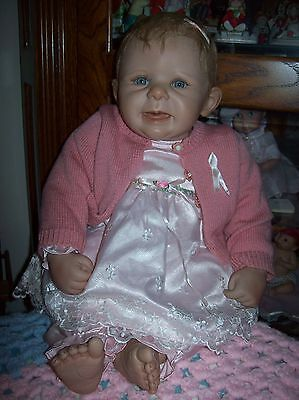 Ashton Drake So Truly Real 22 Inch Weighted Waki Puppen Cancer Awareness Doll