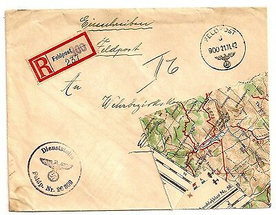 1942 WWII World War 2 WESTERN ANTI-TANK CAMPAIGN MAP Fashioned ENVELOPE Cover