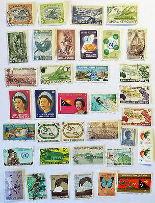 British Colonies Papua & New Guinea QEII Early Old Stamps 2/6 1 Shilling lot763