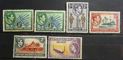 British Colonies Solomon Islands Collection of Stamps KGVI lot773