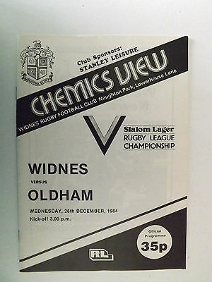 1984 RUGBY LEAGUE PROGRAMME-WIDNES v OLDHAM