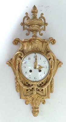 Superb French Ormolu & Bronze 8 Day Striking Cartel Wall Clock C1850 Front Wind