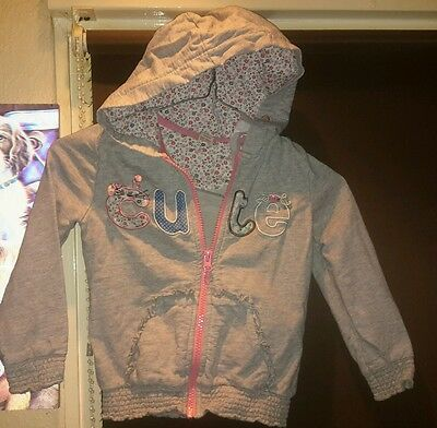 T U GIRLS hooded top aged 2 - 3 year's