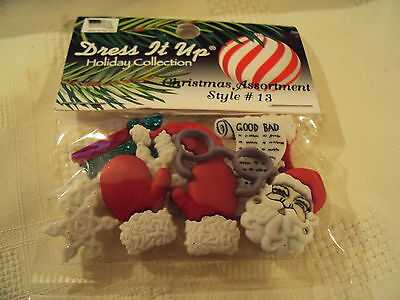 DRESS IT UP Buttons  CHRISTMAS STYLE 13 - Embellishments