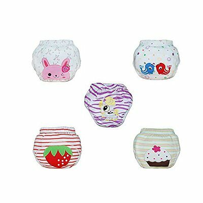 Babyfriend Baby Girls'' Washable 5 Pack Training Pants Kids Potty Cloth Diaper