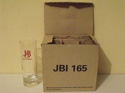 LOT 6 VERRES J & B rare scotch whisky NEUFS