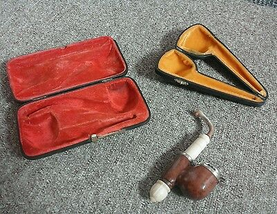 vintage Bruyere pipe and cases