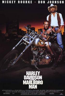 Harley Davidson and the Marlboro Man Movie POSTER 27x40 Mickey Rourke,A LICENSED