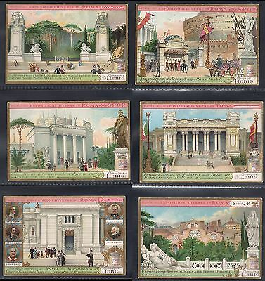 Liebig - Exhibitions In Rome - Full Original Set Of 6 From 1912