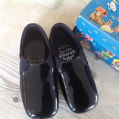 2 Pairs Of Vintage Shoes,boxed.clarks leather and Patent,boys Leather Shoes.