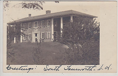 South Tamworth, Nh. Picture Of House. Antique Real Photo Postcard