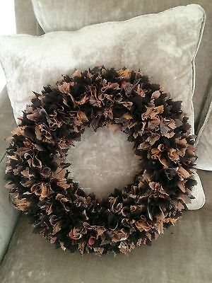 Orange And Black Wreath
