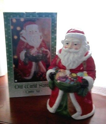 """""""J.C. Penney Home Collection"""" Old World Santa Ceramic Hand Painted Cookie Jar."""