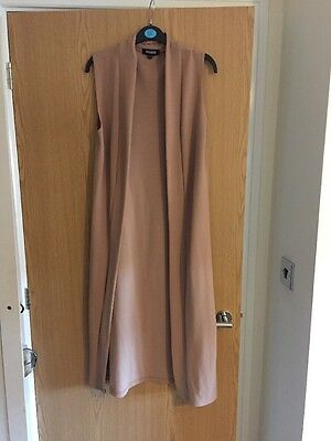 Missguided Sleeveless Camel Duster Jacket - S/M