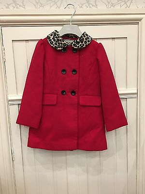 Bnwt NEXT Girls Red Winter Coat Beautiful  New 4-5 yrs Traditional Christmas