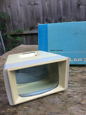 "BOXED VINTAGE PHOTAX SOLAR 3 SLIDE NEGATIVES 2""x2"" VIEWER - MADE IN ENGLAND"