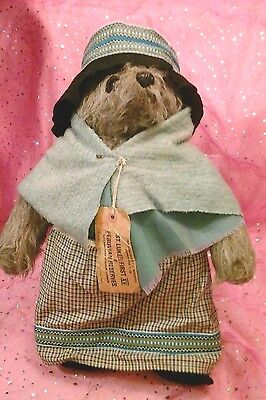 Vintage Aunt Lucy Bear by Gabrielle..  original clothes & complete with coins!