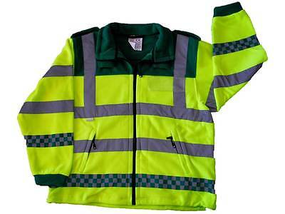 High Visibility Fleece Jacket (Yellow / Green) for Paramedic Ambulance St John