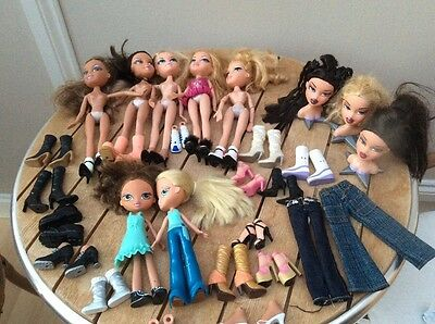 Massive bratz bundle shoes and styling heads