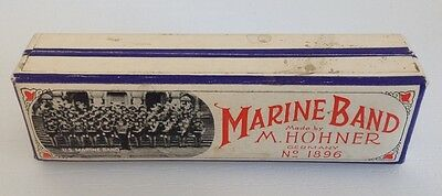 Box for Hohner No 1896 Marine Band Harmonica Key of C Near Mint Minus condition