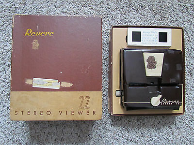 Vintage Revere Stereo Viewer 22 w/ Box Tested Works