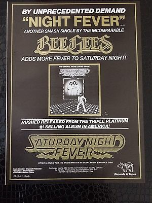 """Bee Gees """"Night Fever"""" Ad From Billboard Magazine February 1978"""