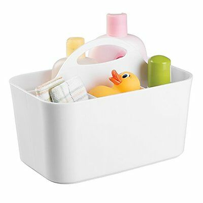 mDesign Baby and Toddler Closet or Nursery Organizer Caddy - White