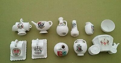 job lot of crested china
