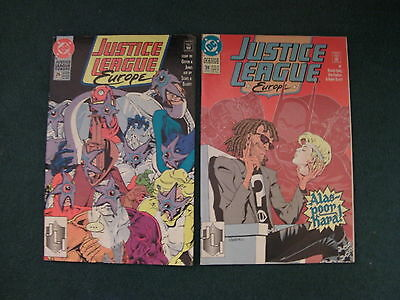 2Off Dc Comics Justice League Europe Issues 26 Of May 1991 And 39 Of June 1992