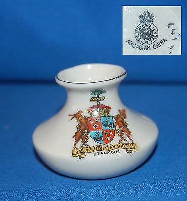 "Arcadian crested ware ""Stanmore"" vase"