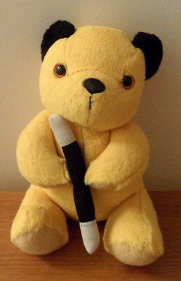"7"" INCH Sooty With Wand  Soft Toy PMS CADELLS  LTD 2008"