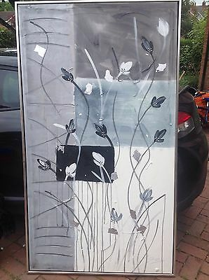 Oil Painting Large Canvas Flowers Abstract