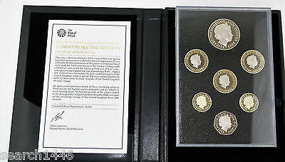 2013 Royal Mint Commemorative Edition Proof 7 coin set, COA, Booklet, Box, Outer