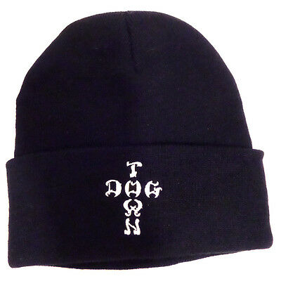 Dogtown Beanie Hat - Embroidered Cross Letters Navy -skateboard skate board new