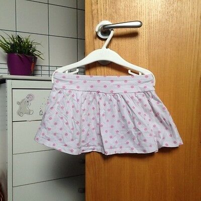 H&M girls skirt white with pink spots sz 2 3 years