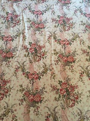 "Long Length of Vintage printed Fabric ""Lucetta"" 55""wide x 148""long"