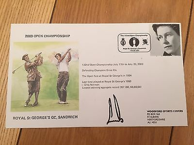 Ernie Els Signed 1St Day Cover Golf